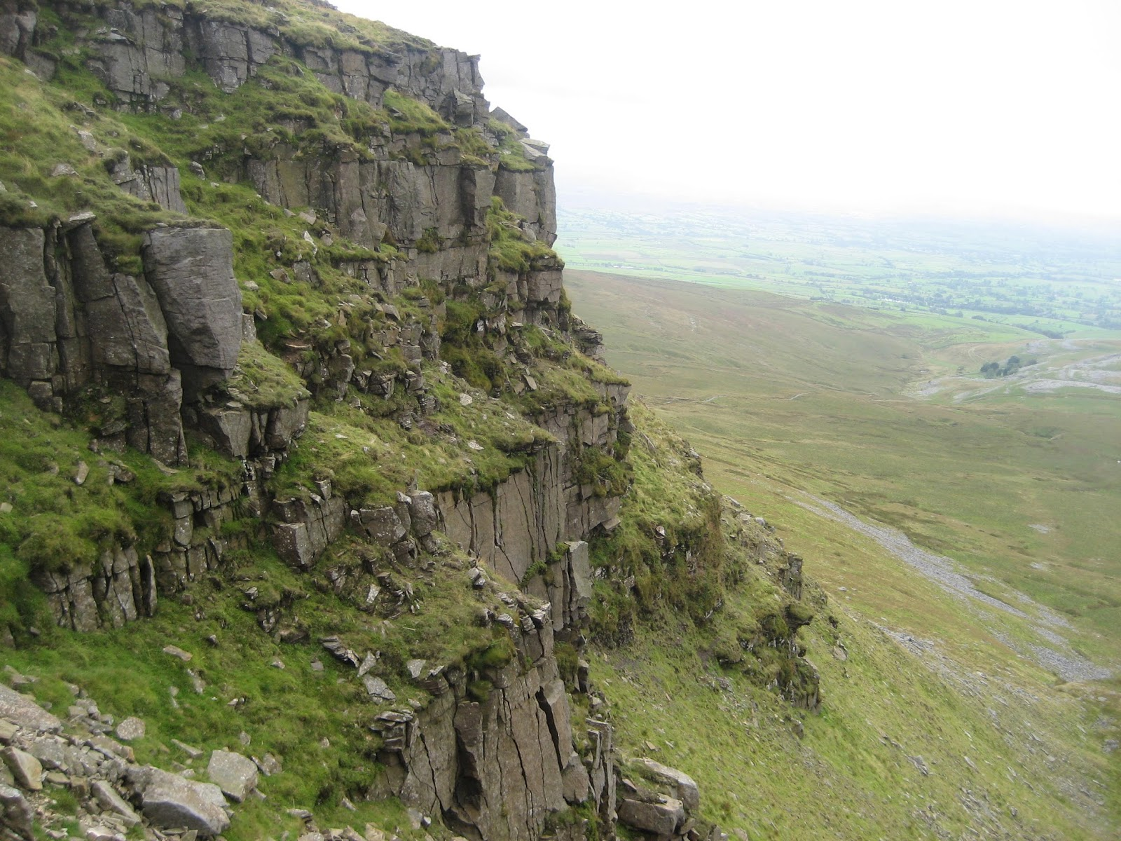 Sandstone within the Yoredale Series exposed on the Falls Foot landslip, Ingleborough. Stephen Oldfield