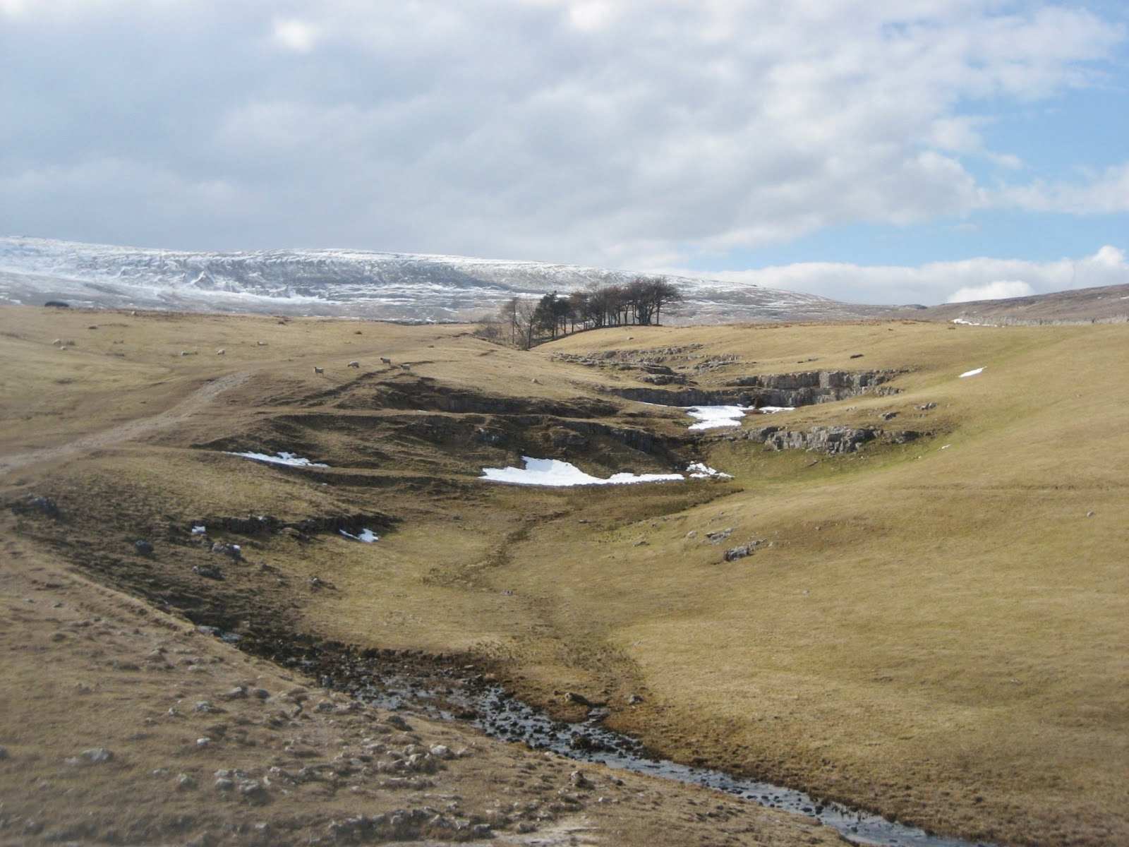 Dry valley below Alum Pot – scoured by meltwater when the pothole was blocked by ice. Stephen Oldfield