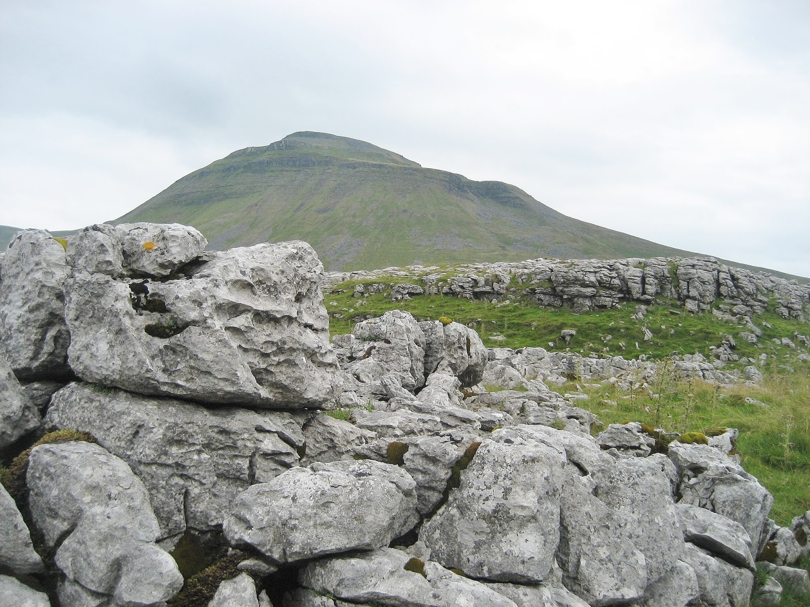 Ingleborough sitting on its plinth of Great Scar Limestone. Stephen Oldfield