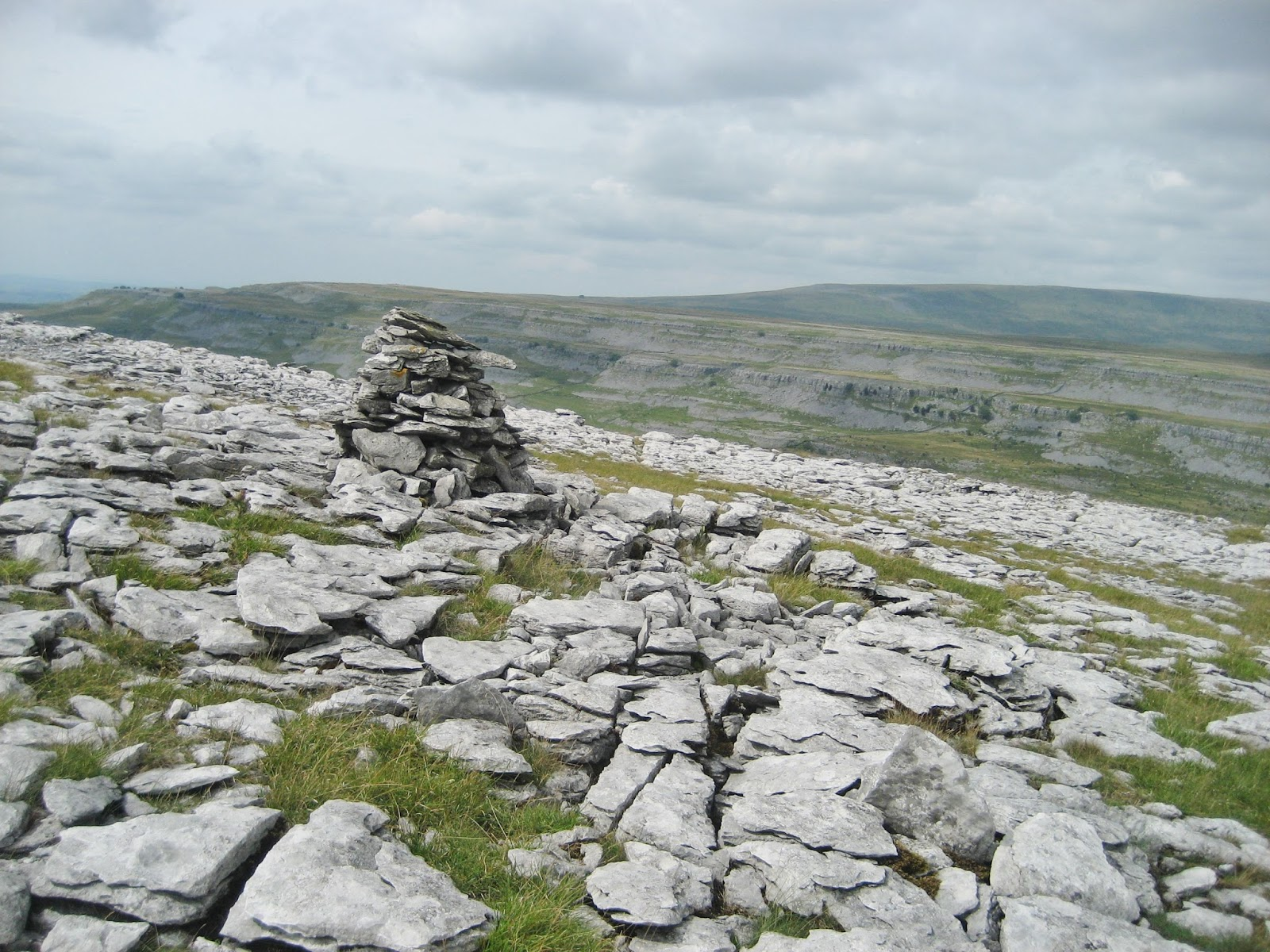 Shattered pavements of Great Scar Limestone above Raven Scars, looking across Chapel-le-Dale to Scales Moor. Stephen Oldfield