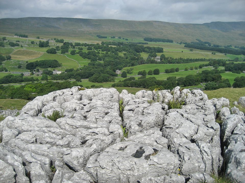 The edge of the Great Scar Limestone plateau at Southerscales. Stephen Oldfield