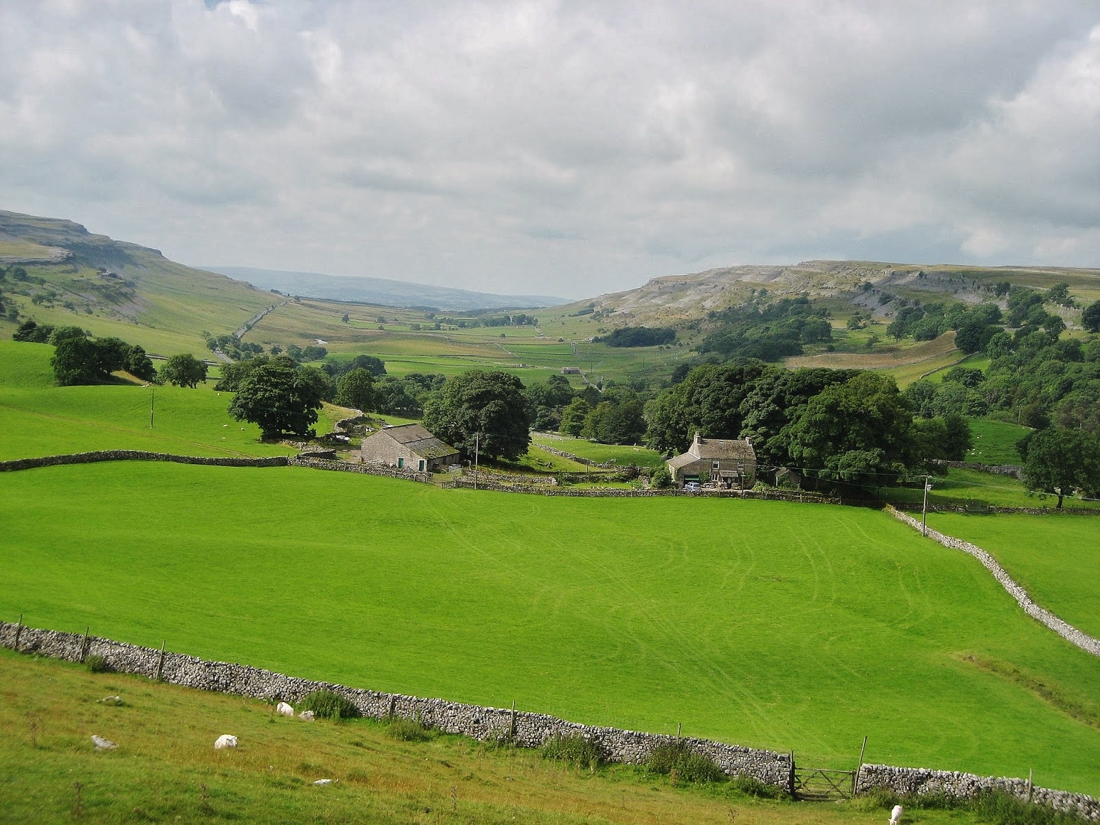 The classic u-shaped profile of Chapel-le-Dale, looking south, with the limestone benches dominating either side. Stephen Oldfield