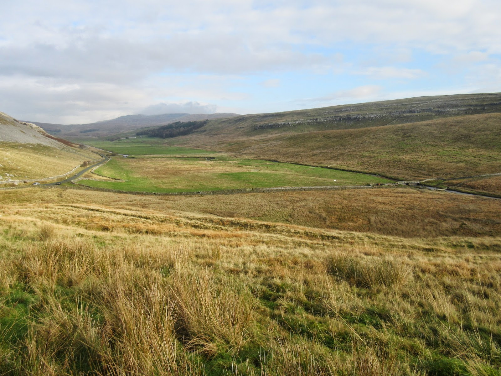 Looking north-east along the former lake floor of Kingsdale, where water was held back by the terminal moraine barrier of Raven Ray. Stephen Oldfield