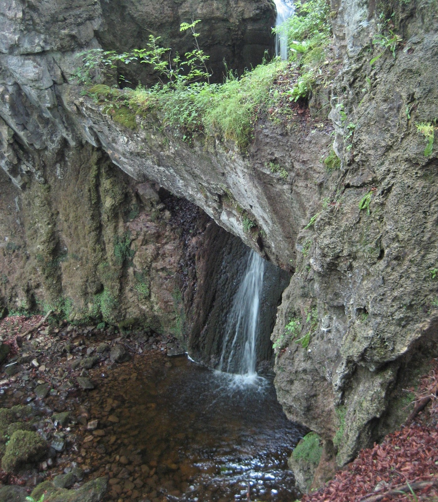 Ease Gill Force, Ingleton – a notable feature on the North Craven Fault. Stephen Oldfield