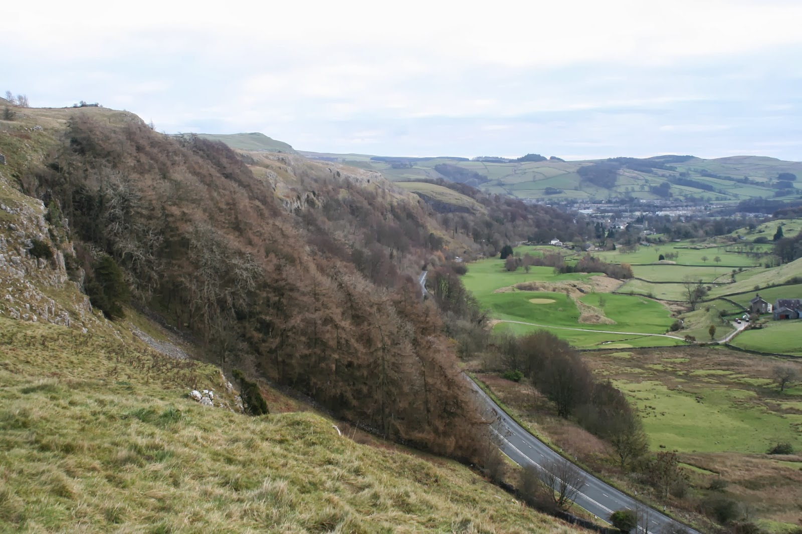 Dramatic evidence of the South Craven Fault at Giggleswick Scar, where the Great Scar Limestone cliffs effectively lie thousands of feet above the same rock now buried beneath the golf course. Stephen Oldfield