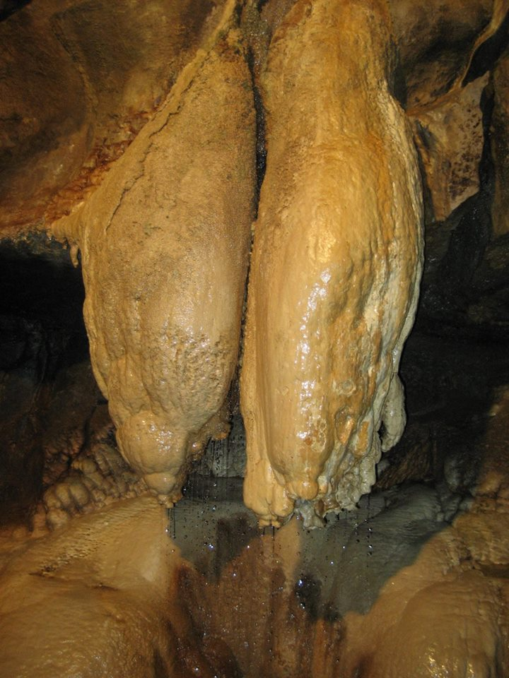 The bizarre formation known as The Showerbath or 'Queen Victoria's Bloomers'. Stephen Oldfield
