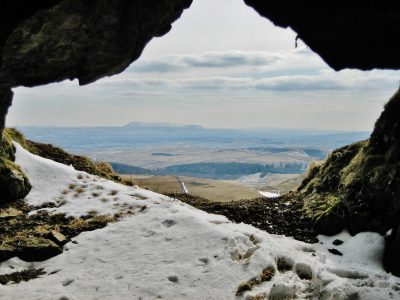Attermire Cave: the keyhole in the cliff