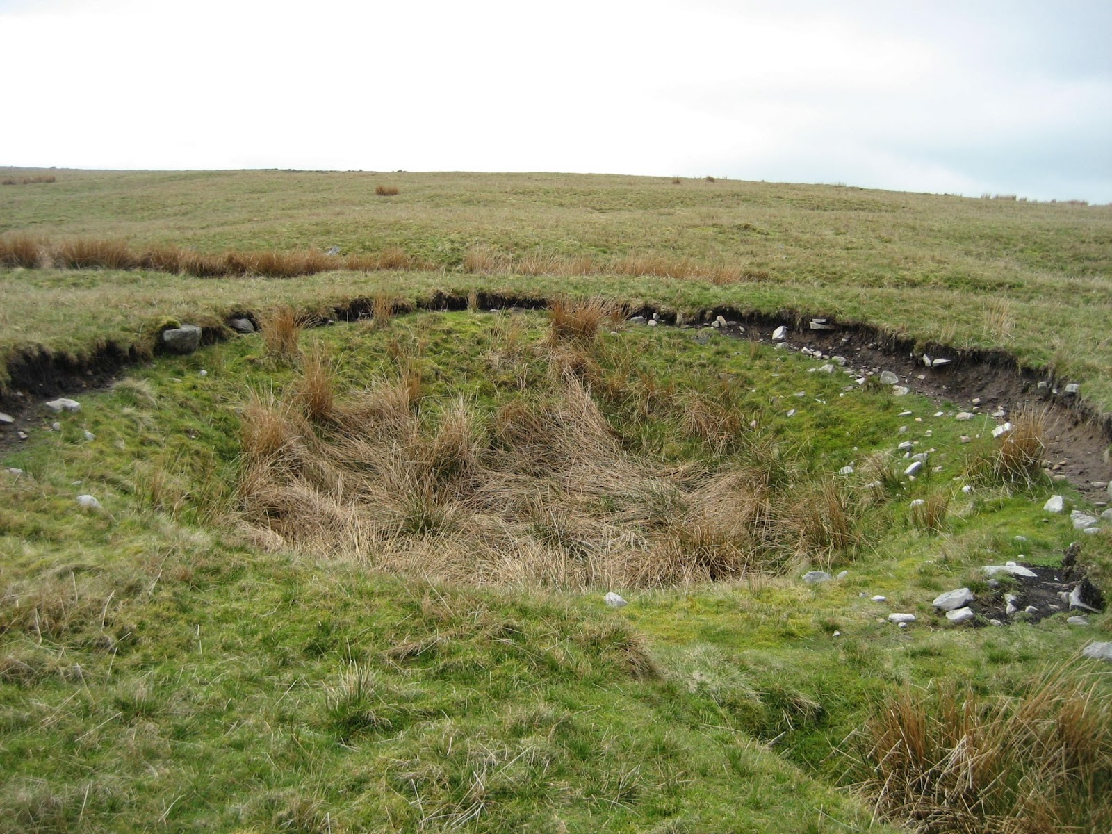 Newly formed shakehole on Newby Moss. Stephen Oldfield